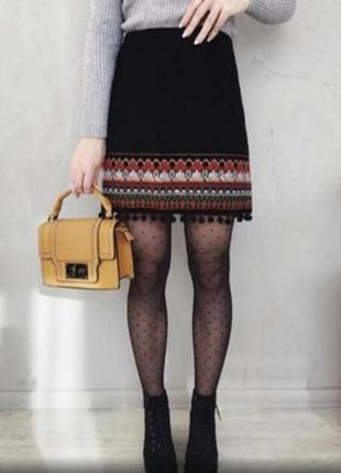 Стильная юбка в этно стиле