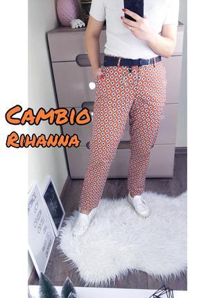 Cambio rihanna яркие брюки в геометричный принт