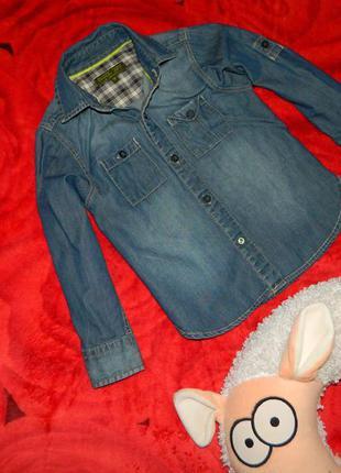 Рубашка детская джинсовая на мальчика 4-5 лет baker boy