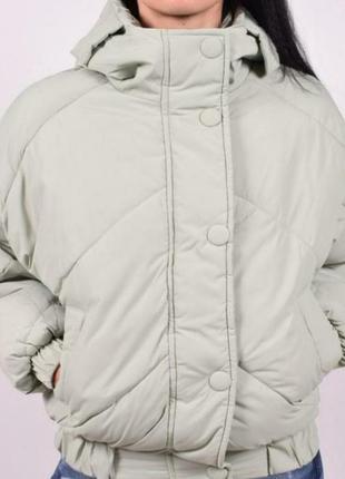 Korea куртка объёмная, стильная, фисташковый цвет