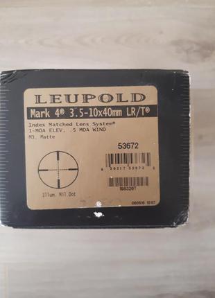 Приціл Leupold Mark 4 3,5-10×40 mm. LR/T