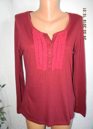 Трикотажная новая блуза с рюшами falmer