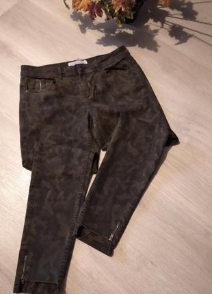 Брендовые джинсы камуфляж zara