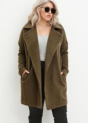 Очень стильное шерстяное пальто forever 21  l-48 размер.