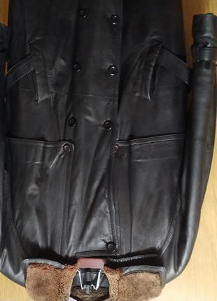 Мужское кожаное пальто классика