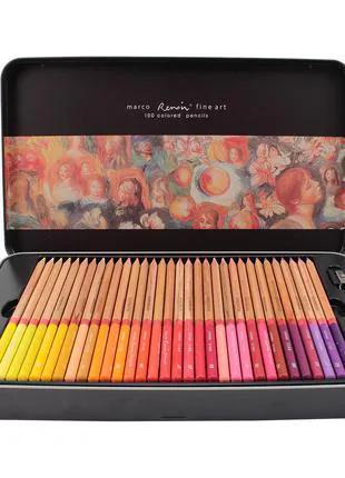Карандаши цветные Marco Renoir Fine Art 100 цветов в металл. кейс