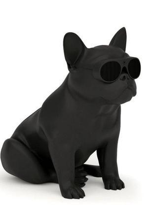 Колонка S5 в виде собаки в очках бульдог