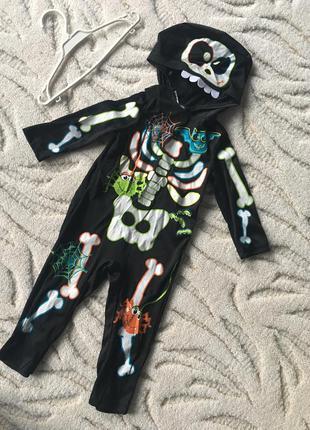 Новогодний, карнавальный костюм склетик george 2-3 годика в от...