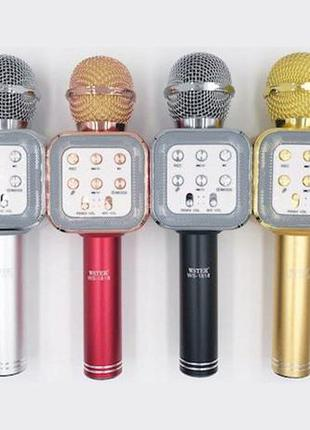 Караоке-Микрофон WS 1818 Колонка-Микрофон. Микрофон
