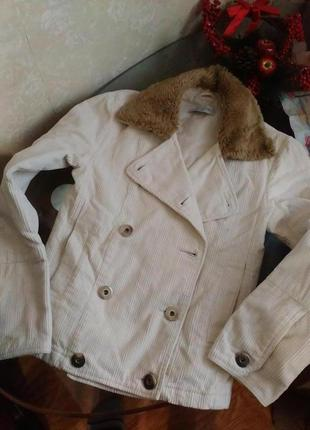 Куртка вельветовая с легким утеплителем
