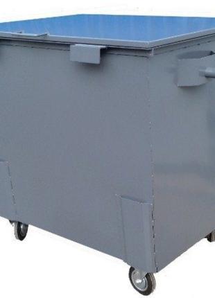 Евроконтейнер 0.85 куб.м мусорный (металлический) для отходов