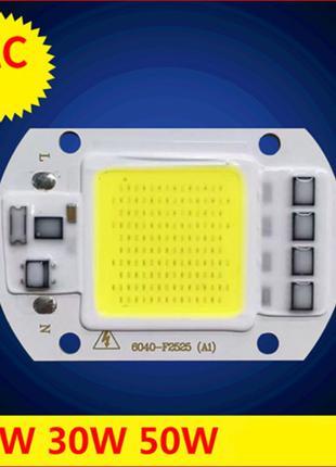 Светодиод + ТЕРМОПАСТА 30W 220v LED COB прожектор 30вт 35W драйве