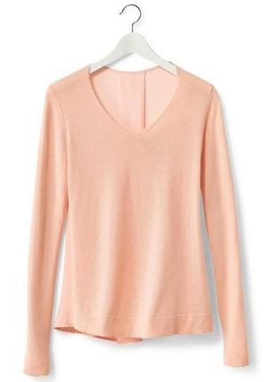 Пудровый джемпер-блуза с тканевой вставкой на спинке tcm tchibo