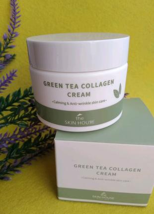 Крем с коллагеном и экстрактом зеленого чая The Skin House Green