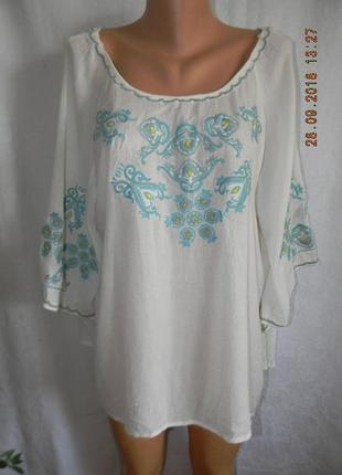 Новая блуза свободного кроя с вышивкой george