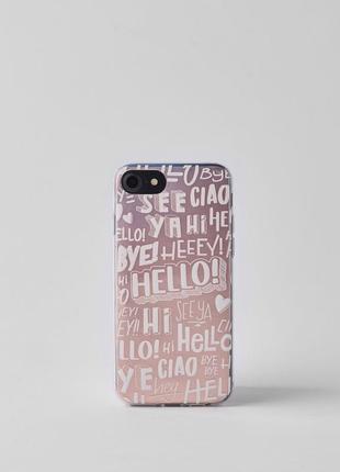 Силиконовый прозрачный чехол кейс для iphone 6 / 6s / 7 / 8 be...