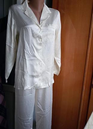 Роскошная шелковая пижама palmers 100%  шелк