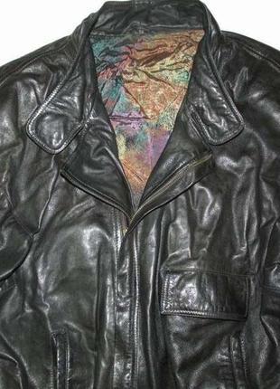 Куртка кожаная, xl-xxl. как новая!