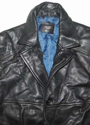 Куртка кожаная next, m-l. как новая!