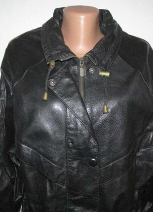 Куртка кожаная classic woman, l-xl. сост. отличное!