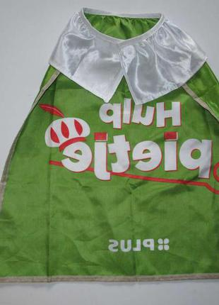 Накидка костюм маскарадный, детский, hulp pietje, зеленый чело...