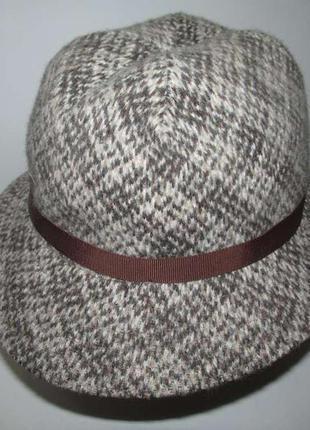 Шляпа kangol england, шерсть+ангора, 55-56р. новая!