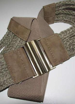 Ремень m&co, плетеный, на резинке, 86-130 см, как новый!