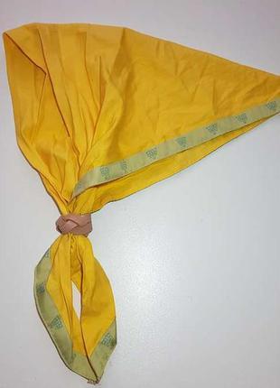 Скаутский галстук с кожаным фиксатором, хлопок, 102*47 см, как...