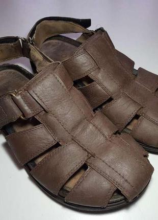 Сандалии кожаные ecco, 40р. 26 см, в хорошем сост.