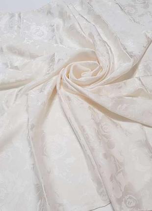 Платок silk, с цветами, 100% шелк, 92*90см, как новый!!!