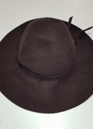Шляпа шерсть, войлок, 54-57р. как новая!