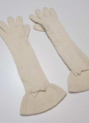 Перчатки ангора+шерсть, как новые!