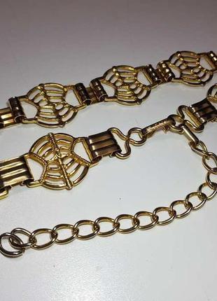 Ремень золотой italy, металлический, как новый!