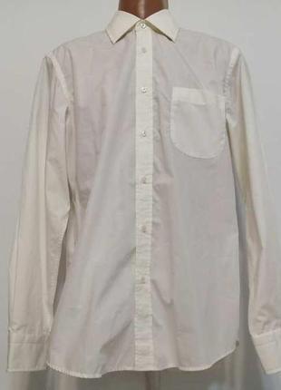 Рубашка hugo boss, 100% хлопок, 42р. как новая!