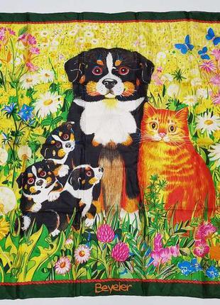 Платок собаки и кот, beyeler. новый!