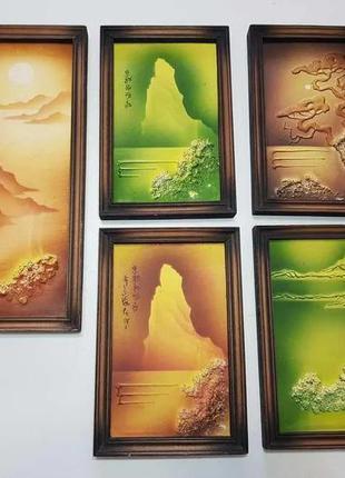 Коллекция рельефных картин, 5 шт