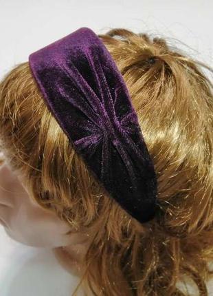 Красивый стильный обруч на волосы. hand made. новый!