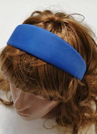 Синий обруч на волосы, hand made. новый!