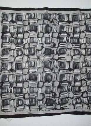 Шелковый платок с узорами, 52*52 см, в хорошем сост.