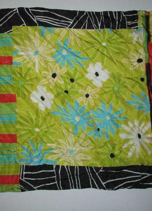 Шелковый платок с цветочками, 52*52 см, в хорошем сост.