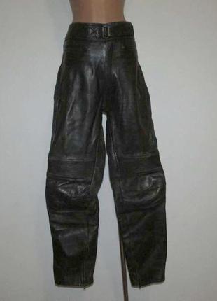 Брюки кожаные echtes leder, мото, в поясе 48-51 см, сост. отли...