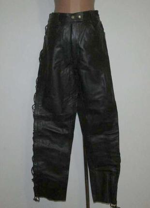 Мотобрюки кожаные hein gericke, в поясе 39-42 см, как новые!