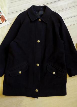 Крутое пальто оверсайз 100 % шерсть размер 20-22 (52-56)
