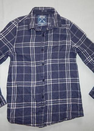Рубашка в клетку теплая байка на мальчика 11-12лет 152см