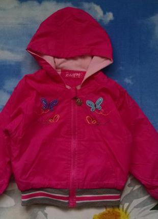 Стильная куртка, ветровка для девочки 2-4 года