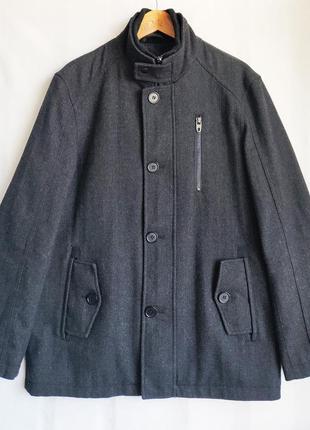 Пальто шерстяное полупальто бушлат куртка george