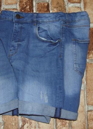 Шорты джинсовые бермуды мальчику большой выбор 13 - 14 лет