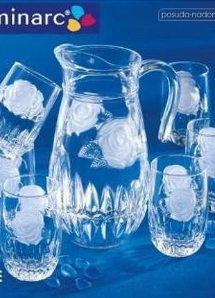 Комплект для напитков luminarc rose