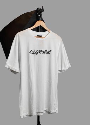 Чоловіча біла футболка з принтом zara man