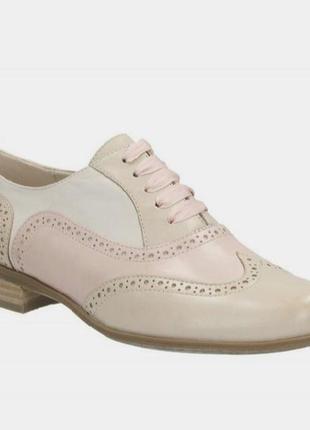 Кожаные женские туфли броги оксфорды